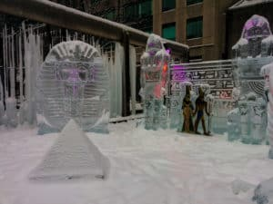 Visiting the Ice Fest is one of the things to do in Toronto this winter