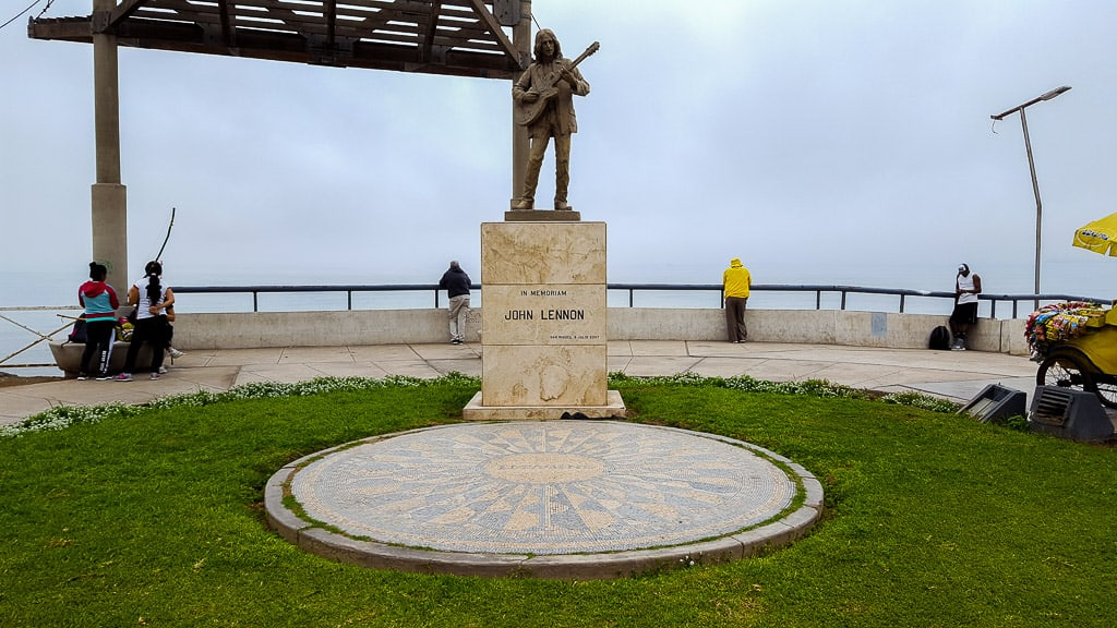 Finding the John Lennon Peace Memorial is one of the things to do in Miraflores