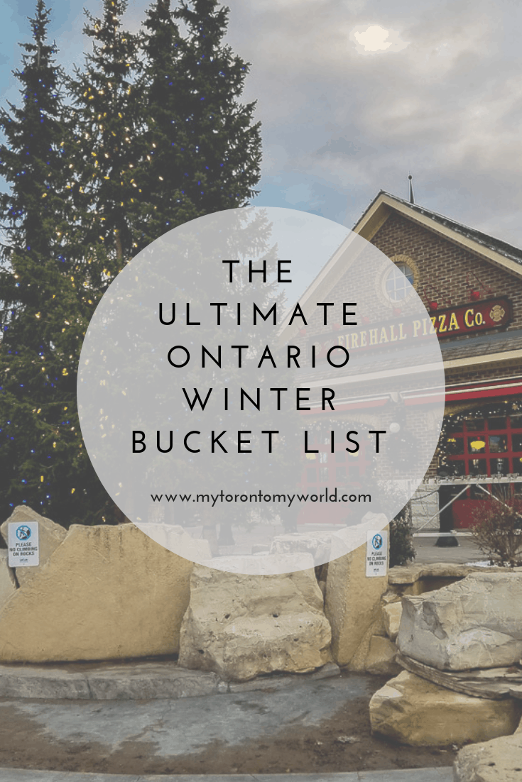 The Ultimate Ontario Winter Bucket List with tons of things to do in Ontario this winter!