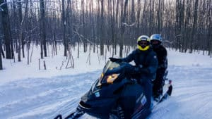 Snowmobiling is one of the things to do in Ontario this winter