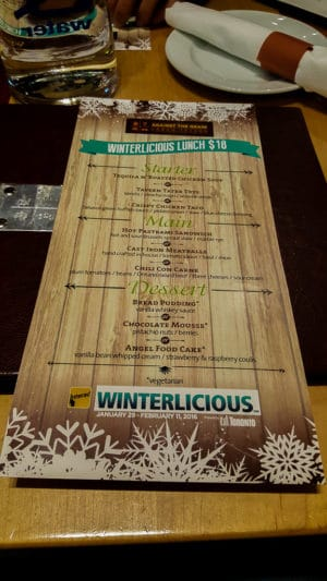 Checking out a new restaurant during Winterlicious is one of the things to do in Toronto this winter