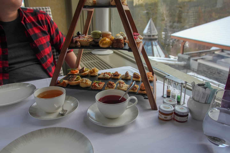 Afternoon tea in Banff