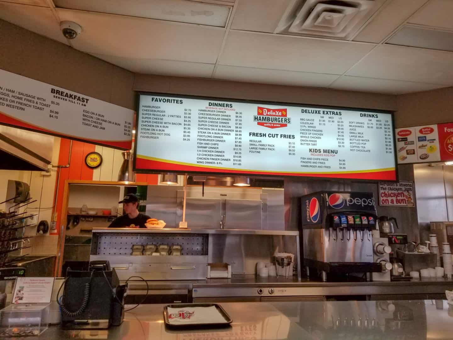 Food at Deluxe Hamburgers is one of the things to do in Sudbury