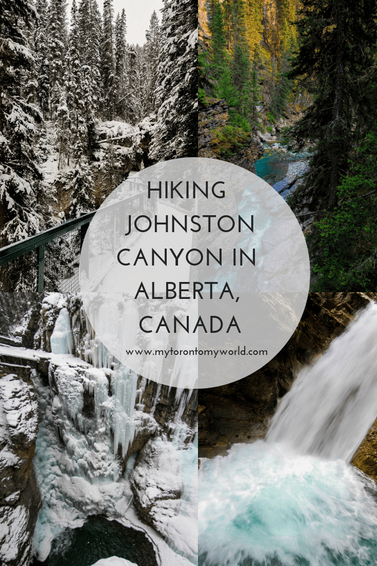 Hiking Johnston Canyon in Banff National Park in Alberta, Canada
