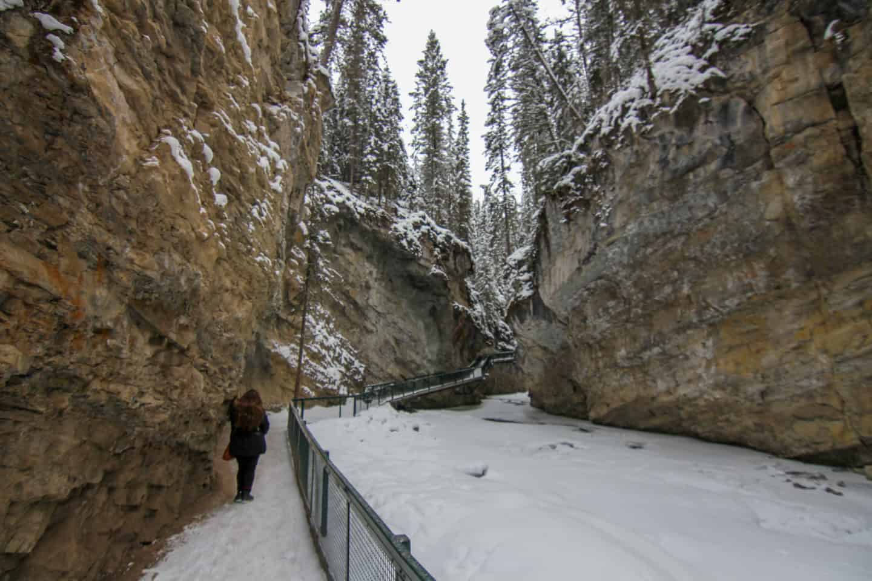 Hiking Johnston Canyon