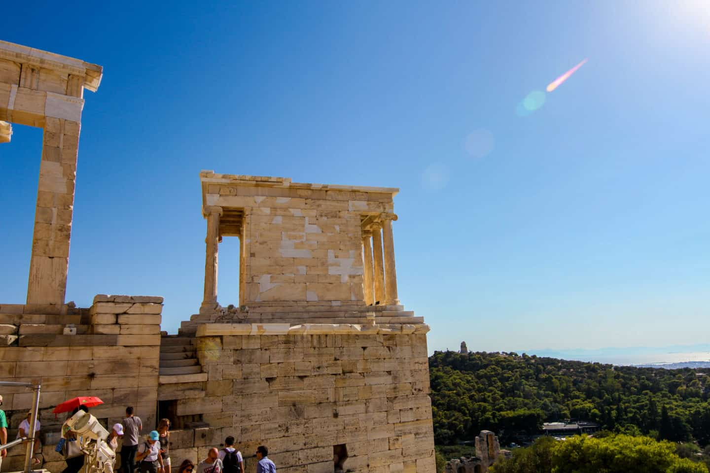 Seeing the temple of Athena Nike is one of the things to do while visiting the Acropolis