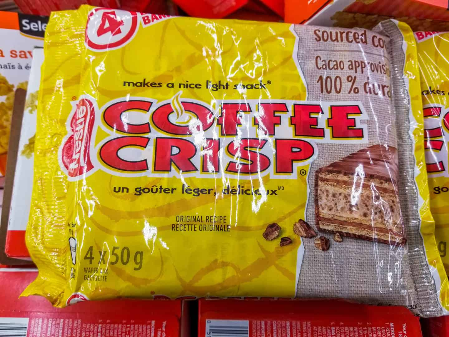 Coffee Crisp is one of the traditional Canadian foods you have to try