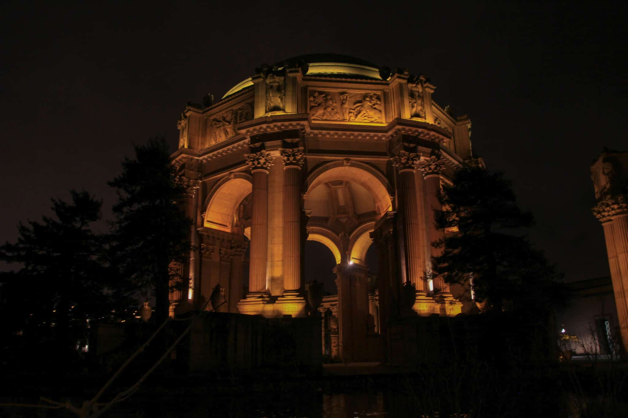 Museum of Fine Arts at night is a must while spending 2 days in San Francisco