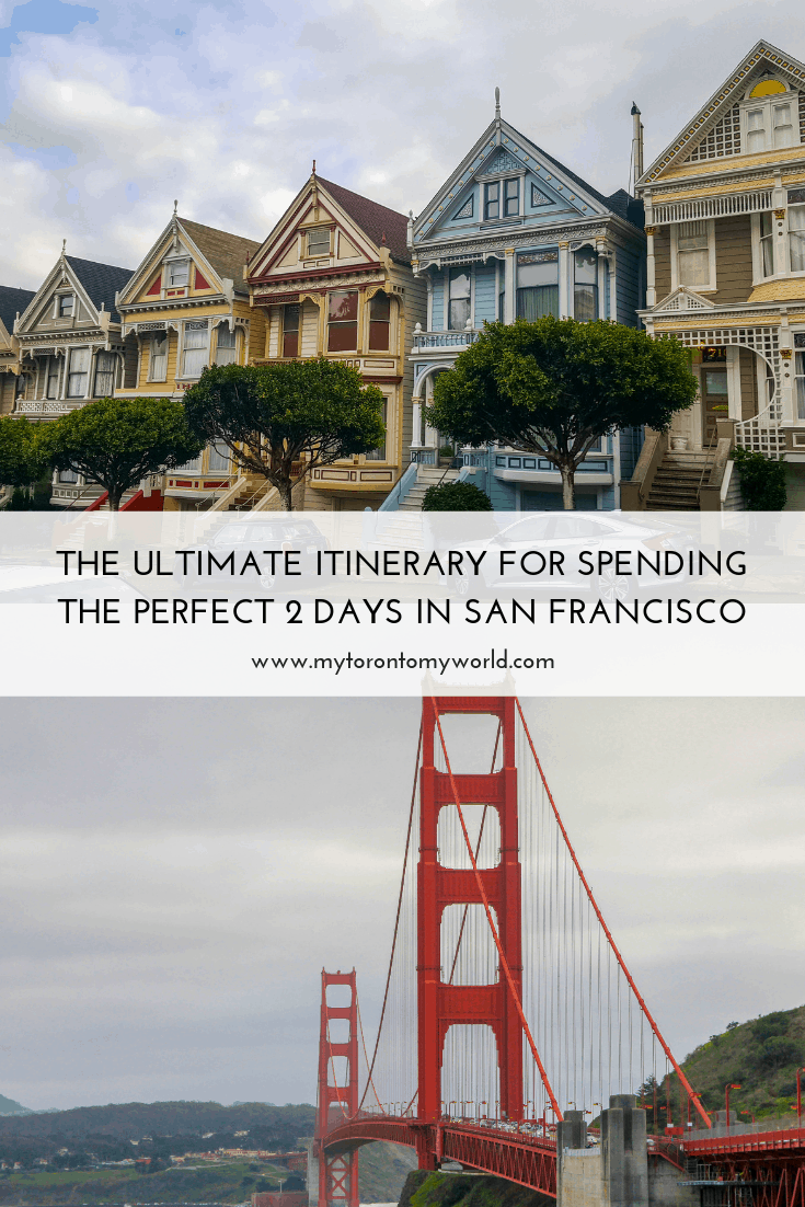 The ultimate itinerary for spending the perfect 2 days in San Francisco, California. San Francisco is known for many things and this itinerary is the perfect way to get the most highlights out of a short 2 day visit! #sanfrancisco #california #unitedstates