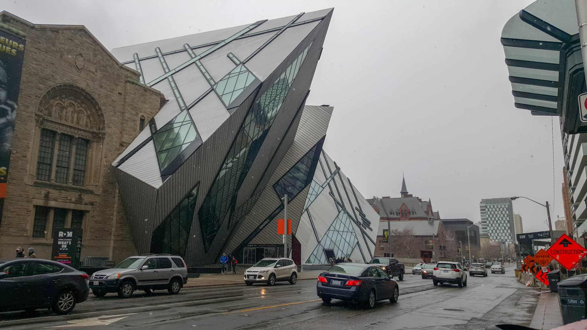 Visiting the ROM is one of the free things to do in Toronto