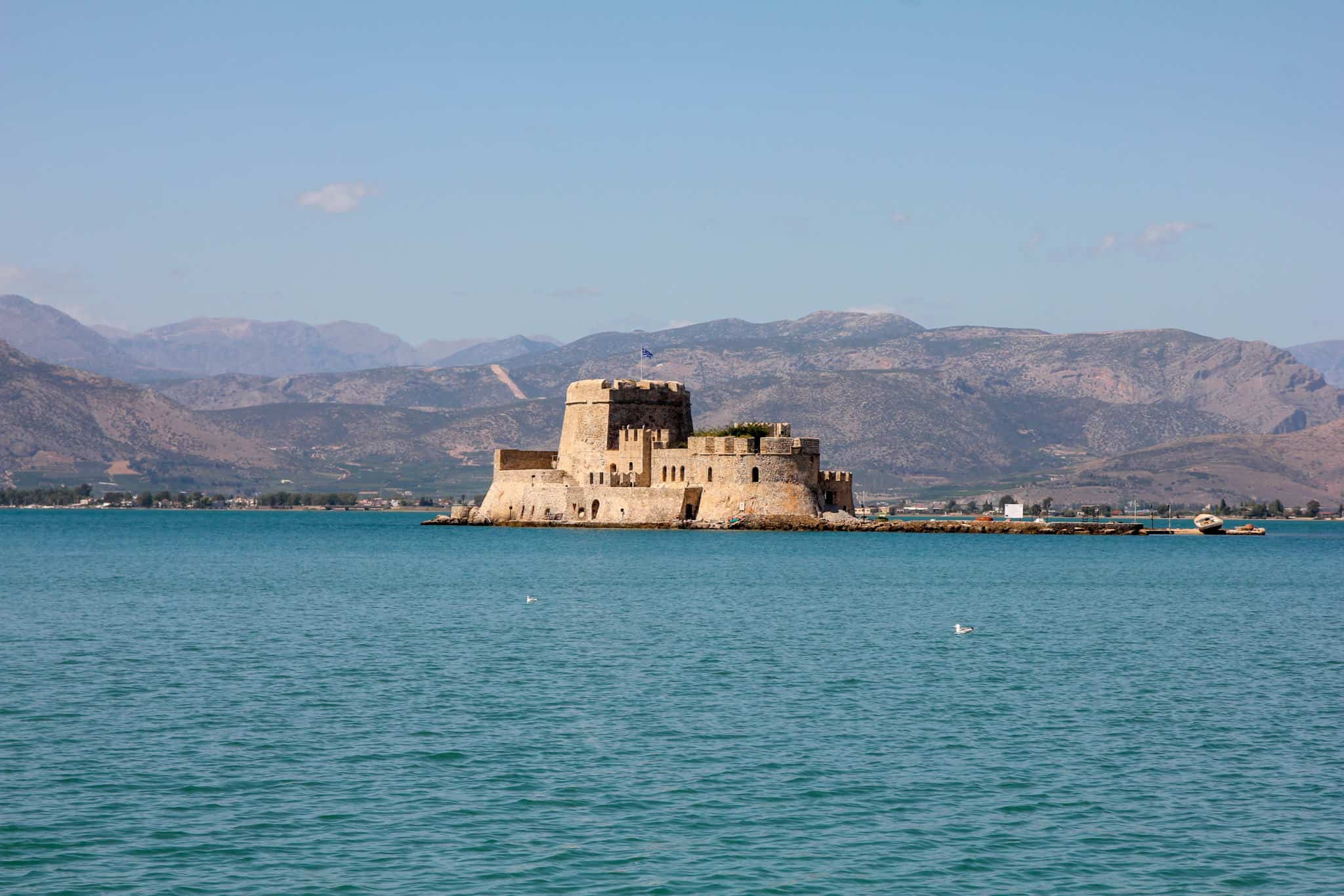 Visiting Bourtzi Castle is one of the things to do in Nafplio