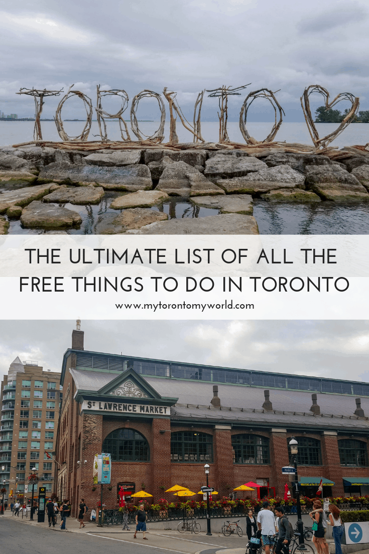 Toronto can be an expensive city but luckily I've got you covered. I've put together this massive list of 59 absolutely free things to do in Toronto! We're not talking cheap things here - we're talking actually free! #toronto #canada