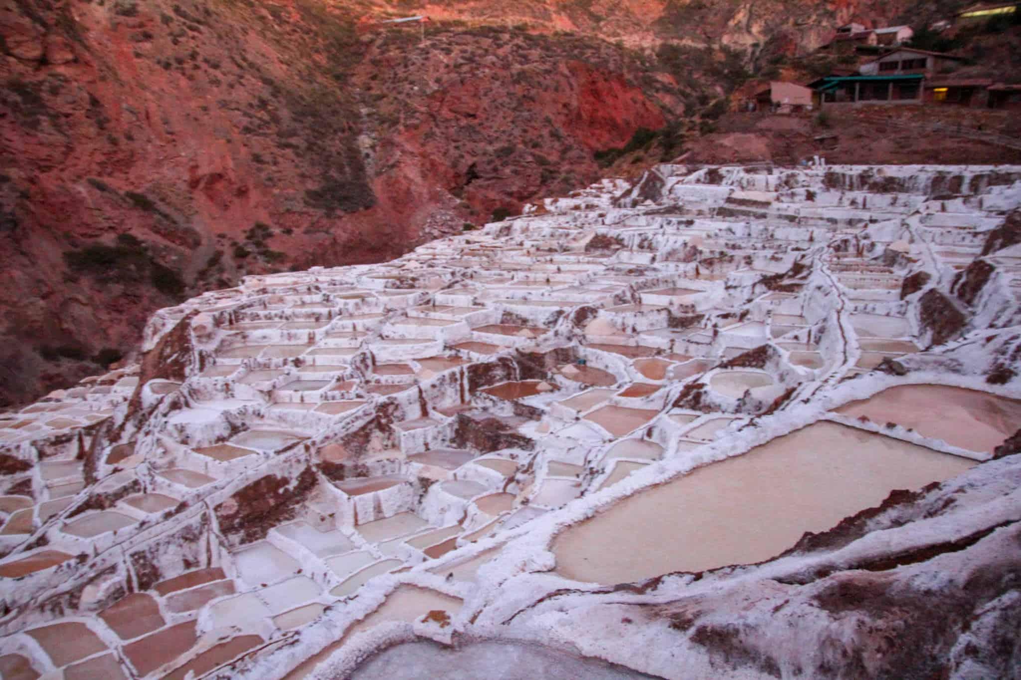 The stunning salt flats in Peru