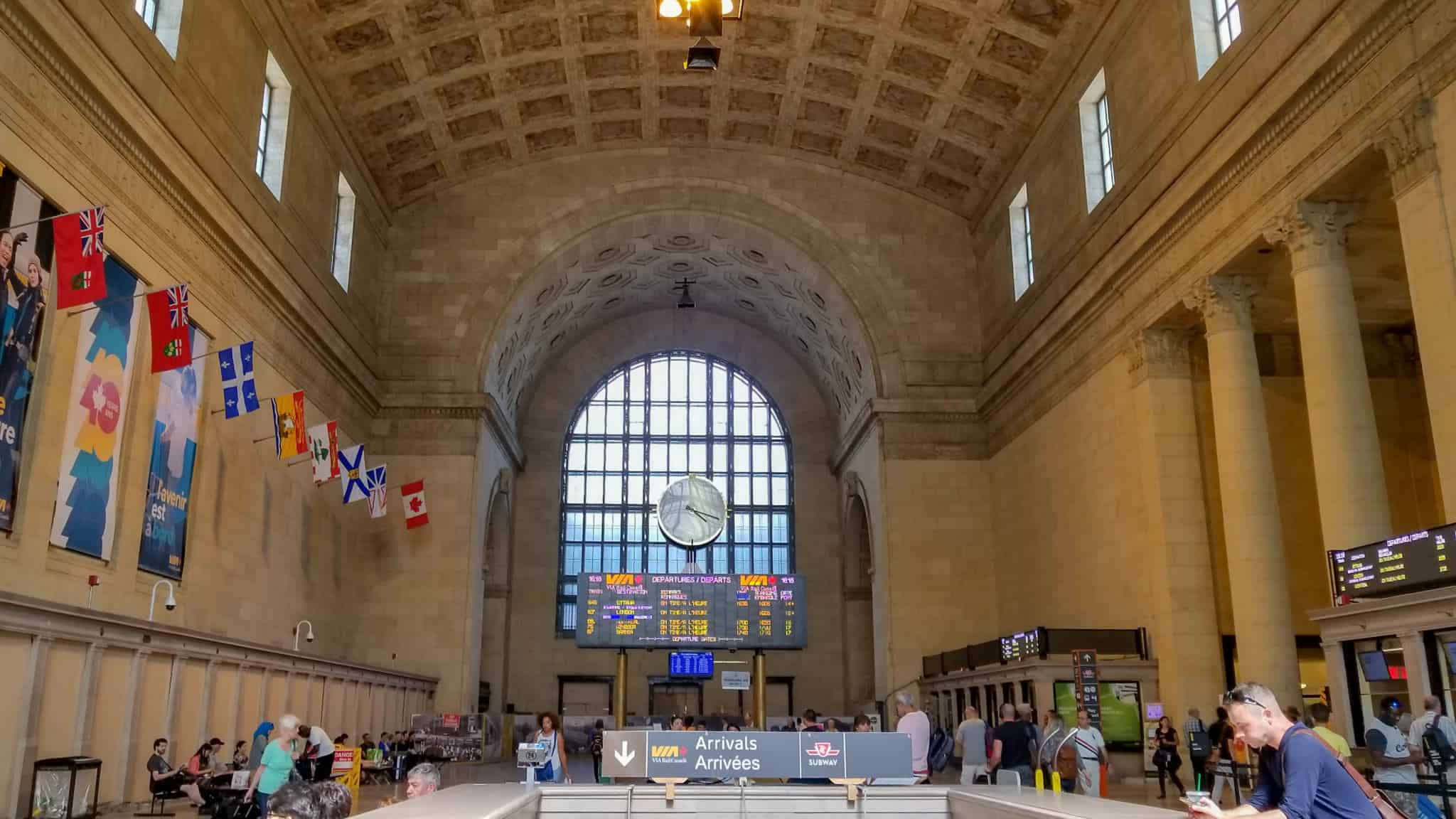 Checking out Union Station is one of the free things to do in Toronto