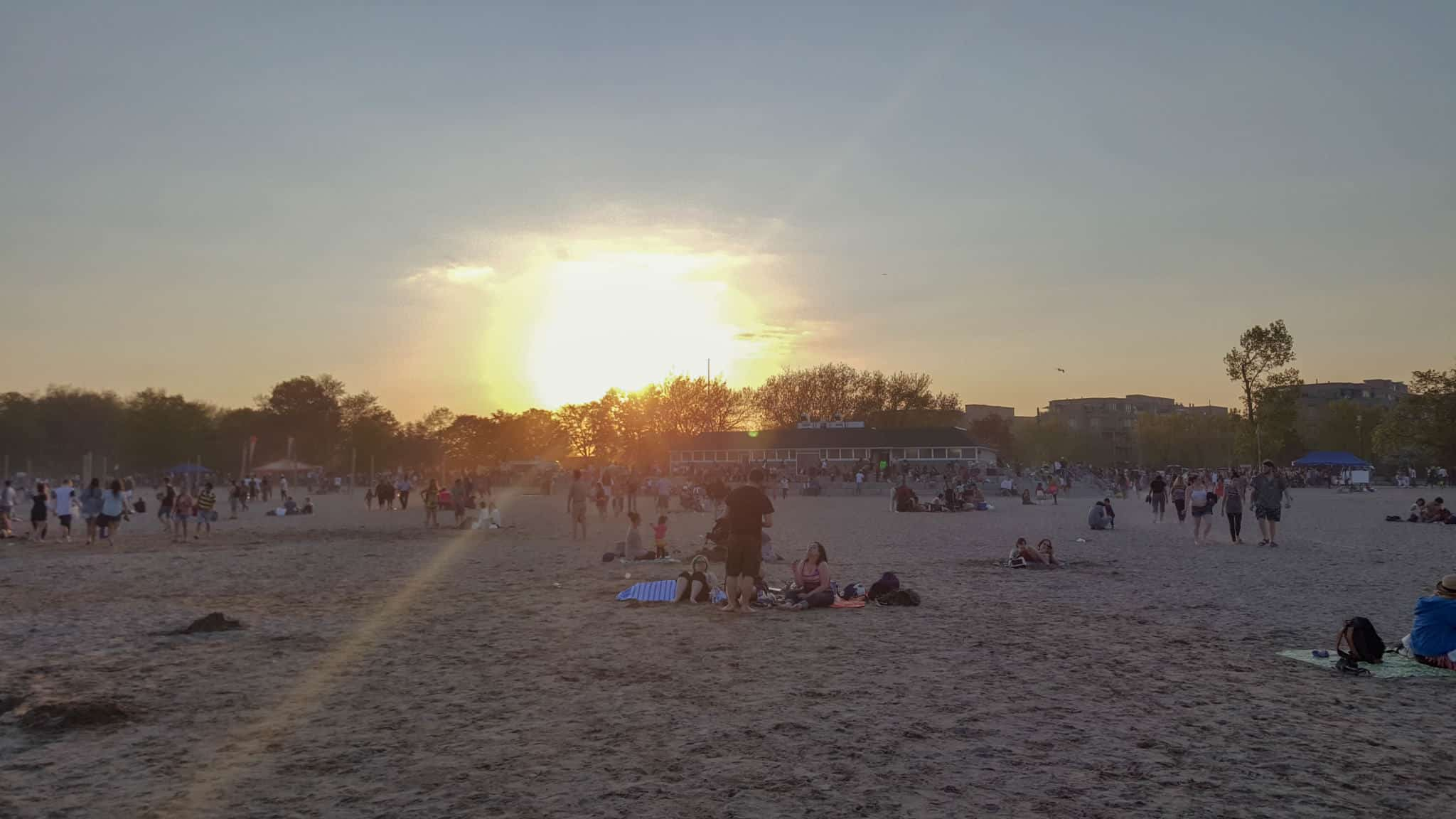 Hanging out on Woodbine Beach is one of the free things to do in Toronto