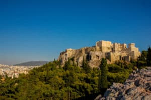 The Acropolis is one of the ruins in Athens