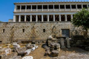The Ancient Agora is one of the ruins in Athens