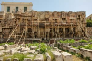 Hadrian's Library is one of the ruins in Athens