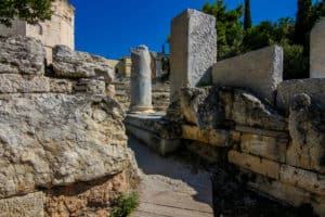 The Roman Agora is one of the ruins in Athens