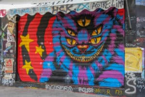 Photographing street art is one of the things to do during 2 days in Athens