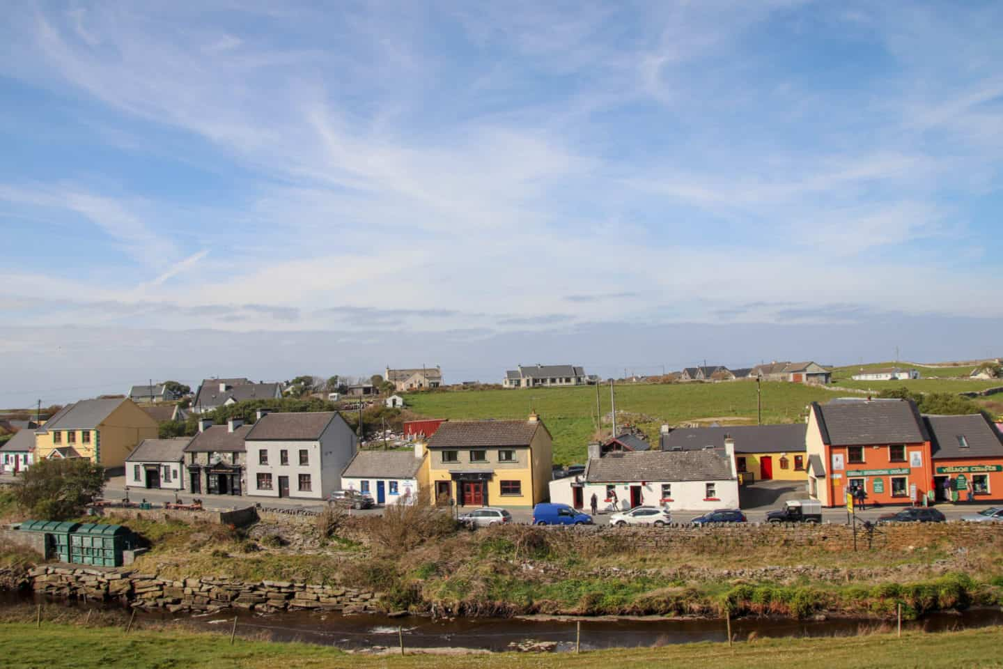 The houses along the main street of Doolin is one of the things to do in Doolin, Ireland