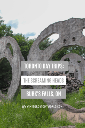 The Screaming Heads in Burk's Falls, ON is a fantastic day trip from Toronto. #screamingheads #torontodaytrips #toronto