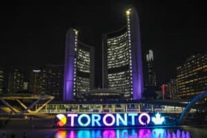 Seeing Toronto at night is one of the things to do during one day in Toronto