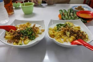 Bubur Ayam is one of the best Indonesian food dishes to try