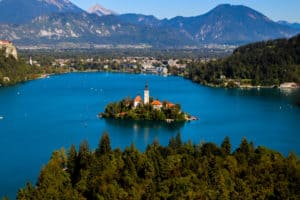 Lake Bled from on top