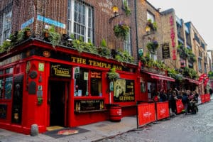 Exterior of the Temple Bar in Dublin, Ireland