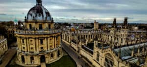 Oxford University Campus from above