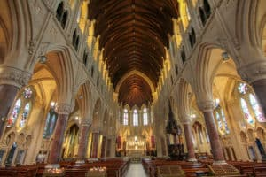 Interior shot of St. Colman's Cathedral which is one of the things to do in Cobh, Ireland