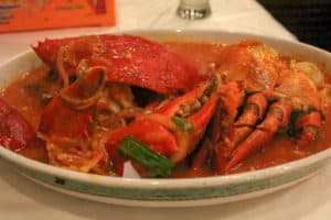 Kepiting Saus Padang is one of the best Indonesian food dishes to try