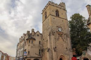 The exterior of Carfax Tower