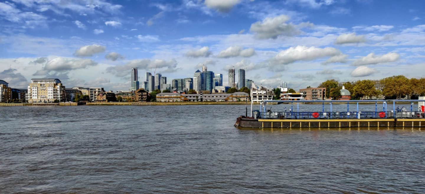 Cutty Shark view of East London