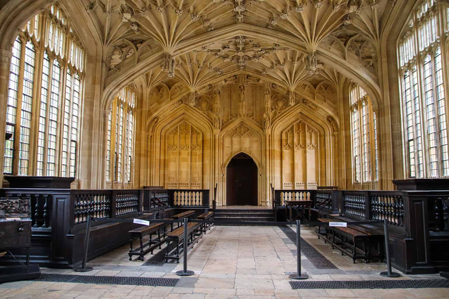 Harry Potter in Oxford in the Divinity School