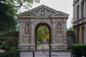 Oxford Botanic Garden entrance
