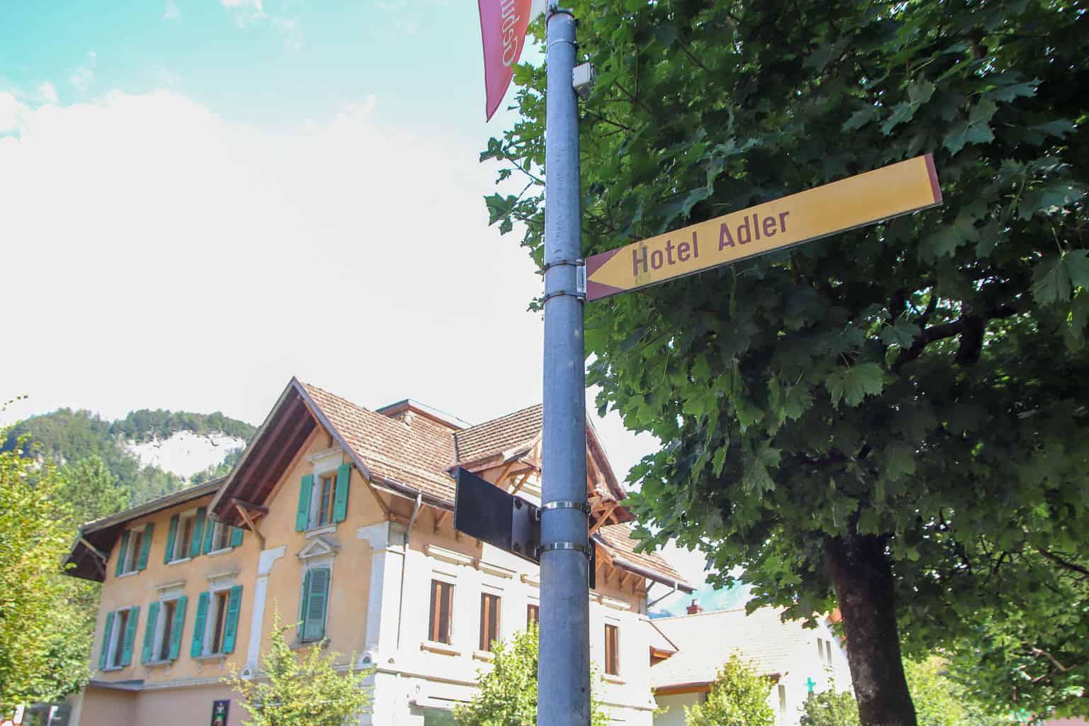 The town of Meiringen, Switzerland