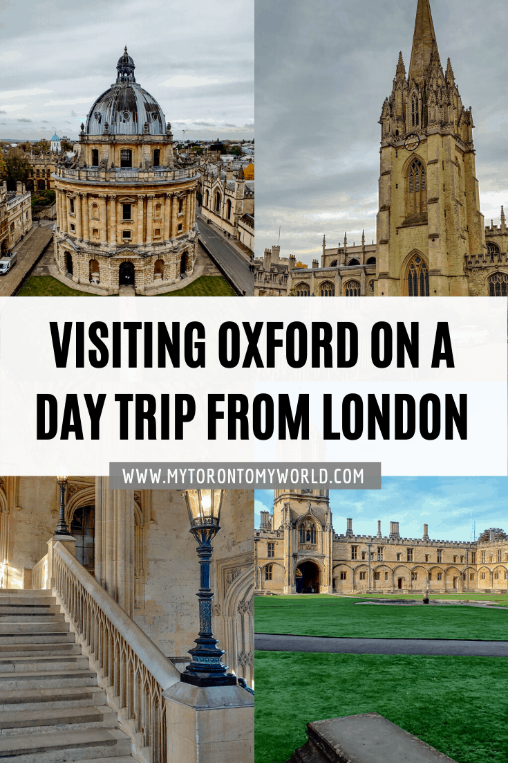 Everything you could need to know about visiting Oxford on a day trip from London. #england #oxford #londondaytrips