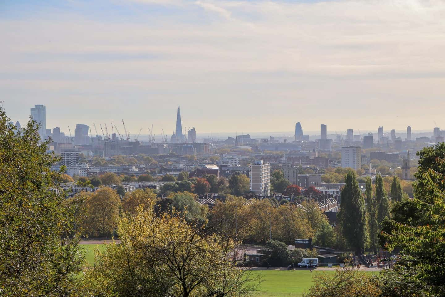 One of the best views of London is the one at Parliament Hill at Hampstead Heath