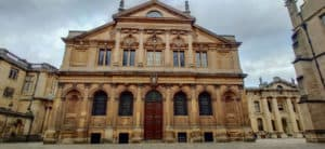 The exterior of the Sheldonian Theater which is a must on an Oxford Day Trip