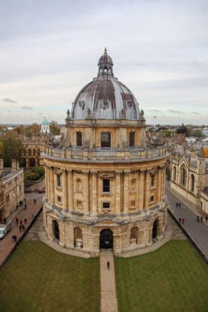 View of Radcliffe Camera from University Church of St Mary the Virgin