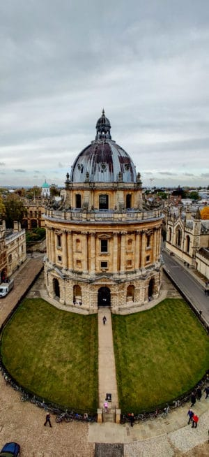 Radcliffe Camera as seen from University Church Tower which is one of the things to see during an Oxford Day Trip