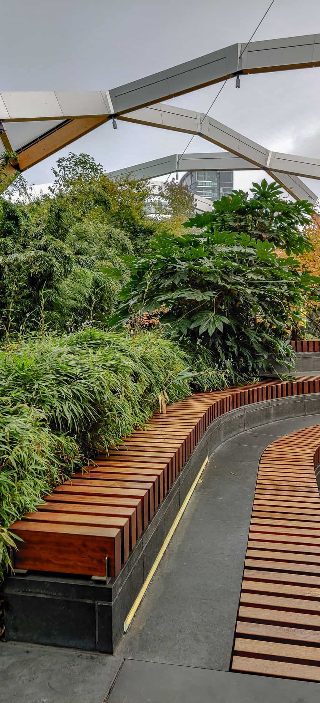 Visiting the Crossrail Place Garden is one of the things to do in Canary Wharf